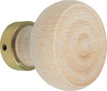 Bouton double hetre finition bois brut