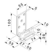Guide équerre inférieur auto-serrant 14649