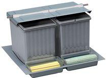 Poubelle de tiroir pour tandembox avec couvercle basculant pour meuble de 600 mm