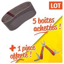 Lot 5 boîtes bandes abranet + 1 pince offerte