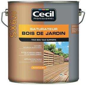 Saturateurs bois de jardin et terrasses CÉCIL Professionnel