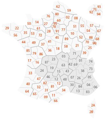 Carte de France LBS